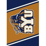 "Milliken College Team Spirit (NCAA) Brigham Young 74385 Spirit Rectangle (4000019468) 2'8"" x 3'10"" Area Rug"