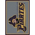 Milliken College Team Spirit (NCAA) East Carolina 79803 Spirit Rectangle (4000019510) 2
