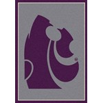 "Milliken College Team Spirit (NCAA) Kansas State 74236 Spirit Rectangle (4000019096) 3'10"" x 5'4"" Area Rug"