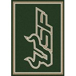 "Milliken College Team Spirit (NCAA-SPT) South Florida 01352 Spirit Rectangle (4000054315) 3'10"" x 5'4"" Area Rug"