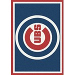 "Milliken MLB Team Spirit (MLB-S) Chicago Cubs 01003 Spirit Rectangle (4000019513) 5'4"" x 7'8"" Area Rug"
