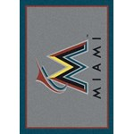 "Milliken MLB Team Spirit (MLB-S) Miami Marlins 01040 Spirit Rectangle (4000049999) 3'10"" x 5'4"" Area Rug"