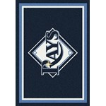 "Milliken MLB Team Spirit (MLB-S) Tampa Bay Rays 01028 Spirit Rectangle (4000054892) 2'8"" x 3'10"" Area Rug"