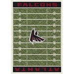 "Milliken NFL Team Home Field (NFL-F) Atlanta Falcons 01006 Home Field Rectangle (4000019850) 7'8"" x 10'9"" Area Rug"