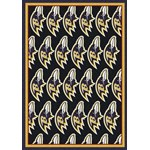 "Milliken NFL Team Repeat (NFL-R) Baltimore Ravens 09008 Repeat Rectangle (4000052745) 7'8"" x 10'9"" Area Rug"