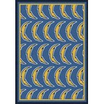 "Milliken NFL Team Repeat (NFL-R) San Diego Chargers 09077 Repeat Rectangle (4000054792) 7'8"" x 10'9"" Area Rug"
