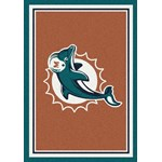 "Milliken NFL Team Spirit (NFL-S) Miami Dolphins 00950 Spirit Rectangle (4000095632) 5'4"" x 7'8"" Area Rug"