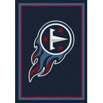 "Milliken NFL Team Spirit (NFL-S) Tennessee Titans 00991 Spirit Rectangle (4000095989) 10'9"" x 13'2"" Area Rug"