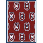 "Milliken NHL Team Repeat (NHL-R) Montreal Canadians 01612 Repeat Rectangle (4000096063) 10'9"" x 13'2"" Area Rug"