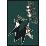 "Milliken NHL Team Spirit (NHL-S) San Jose Sharks 02051 Spirit Rectangle (4000020355) 5'4"" x 7'8"" Area Rug"