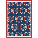 "Milliken MLB Team Repeat (MLB-R) Chicago Cubs 01103 Repeat Rectangle (4000019543) 5'4"" x 7'8"" Area Rug"