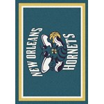 "Milliken NBA Team Spirit (NBA-S) New Orleans Hornets 01019 Spirit Rectangle (4000052557) 5'4"" x 7'8"" Area Rug"