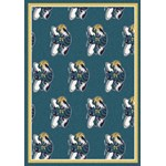"Milliken NBA Team Repeat (NBA-R) New Orleans Hornets 01119 Repeat Rectangle (4000052768) 7'8"" x 10'9"" Area Rug"