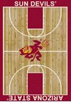 Milliken College Home Court (NCAA) Arizona State 01014 Court Rectangle (4000018280) 3'10