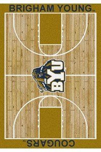 Milliken College Home Court (NCAA) Brigham Young 01048 Court Rectangle (4000018284) 3'10
