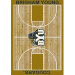 "Milliken College Home Court (NCAA) Brigham Young 01048 Court Rectangle (4000018284) 3'10"" x 5'4"" Area Rug"