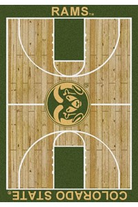 Milliken College Home Court (NCAA) Colorado State 01065 Court Rectangle (4000018458) 7'8
