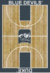 Milliken College Home Court (NCAA) Duke 01512 Court Rectangle (4000018359) 3'10