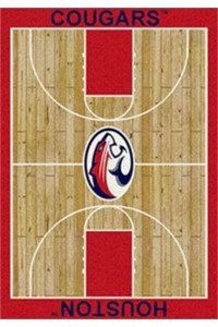 Milliken College Home Court (NCAA) Houston 00387 Court Rectangle (4000018294) 3'10