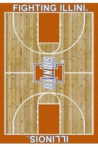 Milliken College Home Court (NCAA) Illinois 01113 Court Rectangle (4000018382) 5'4