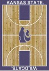 Milliken College Home Court (NCAA) Kansas State 01125 Court Rectangle (4000018470) 7'8