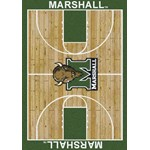 "Milliken College Home Court (NCAA) Marshall 01153 Court Rectangle (4000018474) 7'8"" x 10'9"" Area Rug"