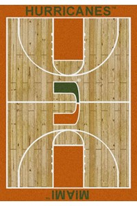 Milliken College Home Court (NCAA) Miami 01157 Court Rectangle (4000018306) 3'10