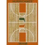 "Milliken College Home Court (NCAA) Miami 01157 Court Rectangle (4000018391) 5'4"" x 7'8"" Area Rug"