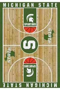 Milliken College Home Court (NCAA) Michigan State 01180 Court Rectangle (4000018395) 5'4