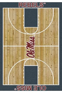 Milliken College Home Court (NCAA) Mississippi 01186 Court Rectangle (4000018397) 5'4