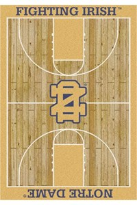 Milliken College Home Court (NCAA) Notre Dame 01260 Court Rectangle (4000018320) 3'10