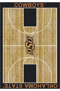 Milliken College Home Court (NCAA) Oklahoma State 01290 Court Rectangle (4000018492) 7'8