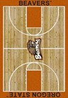 Milliken College Home Court (NCAA) Oregon State 01294 Court Rectangle (4000018324) 3'10