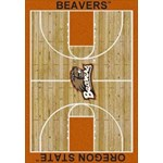 "Milliken College Home Court (NCAA) Oregon State 01294 Court Rectangle (4000018324) 3'10"" x 5'4"" Area Rug"