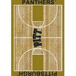 "Milliken College Home Court (NCAA) Pittsburgh 01330 Court Rectangle (4000018326) 3'10"" x 5'4"" Area Rug"
