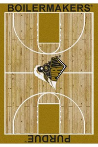 Milliken College Home Court (NCAA) Purdue 01345 Court Rectangle (4000018327) 3'10