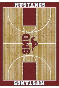 Milliken College Home Court (NCAA) Southern Methodist 01390 Court Rectangle (4000018420) 5'4