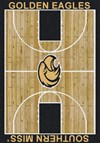 Milliken College Home Court (NCAA) Southern Mississippi 01392 Court Rectangle (4000018506) 7'8