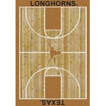 "Milliken College Home Court (NCAA) Texas 01410 Court Rectangle (4000018510) 7'8"" x 10'9"" Area Rug"