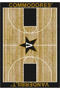 Milliken College Home Court (NCAA) Vanderbilt 01453 Court Rectangle (4000018347) 3'10