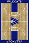 Milliken College Home Court (NCAA) Villanova 01448 Court Rectangle (4000018430) 5'4