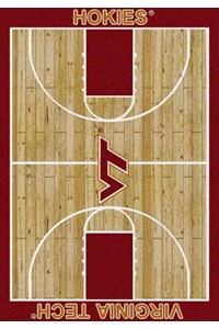 Milliken College Home Court (NCAA) Virginia Tech 01460 Court Rectangle (4000018350) 3'10