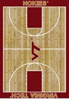 Milliken College Home Court (NCAA) Virginia Tech 01460 Court Rectangle (4000018435) 5'4