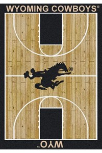 Milliken College Home Court (NCAA) Wyoming 01491 Court Rectangle (4000018356) 3'10