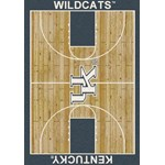 "Milliken College Home Court (NCAA-CRT) Kentucky 01140 Court Rectangle (4000096098) 10'9"" x 13'2"" Area Rug"
