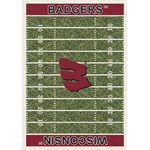 "Milliken College Home Field (NCAA) Wisconsin 01490 Home Field Rectangle (4000018598) 5'4"" x 7'8"" Area Rug"