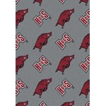 "Milliken College Repeating (NCAA) Arkansas 01020 Repeat Rectangle (4000018825) 5'4"" x 7'8"" Area Rug"