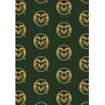 "Milliken College Repeating (NCAA) Colorado State 01065 Repeat Rectangle (4000018977) 10'9"" x 13'2"" Area Rug"