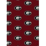 "Milliken College Repeating (NCAA) Georgia 01080 Repeat Rectangle (4000018908) 7'8"" x 10'9"" Area Rug"