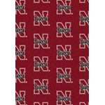 "Milliken College Repeating (NCAA) Nebraska 01230 Repeat Rectangle (4000018930) 7'8"" x 10'9"" Area Rug"